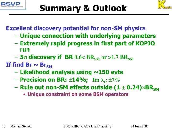 Summary & Outlook