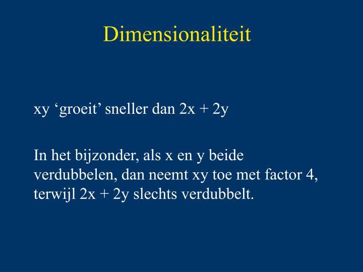 Dimensionaliteit