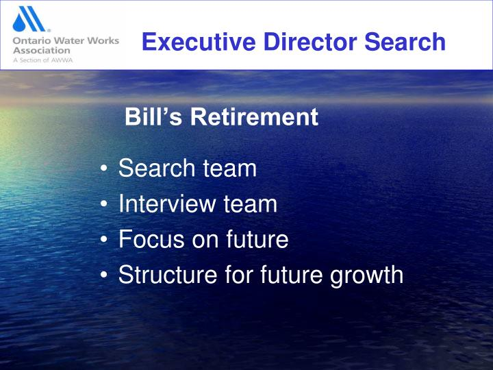 Executive Director Search