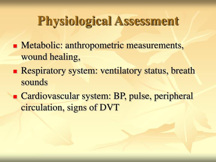 Physiological Assessment