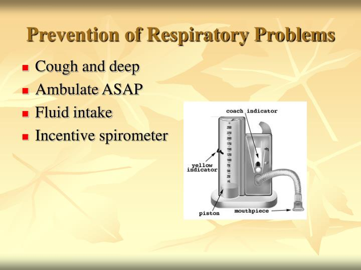 Prevention of Respiratory Problems