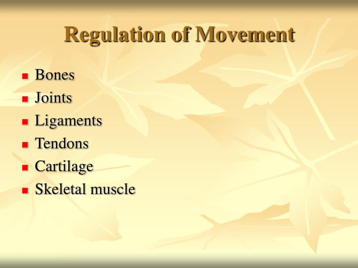 Regulation of Movement