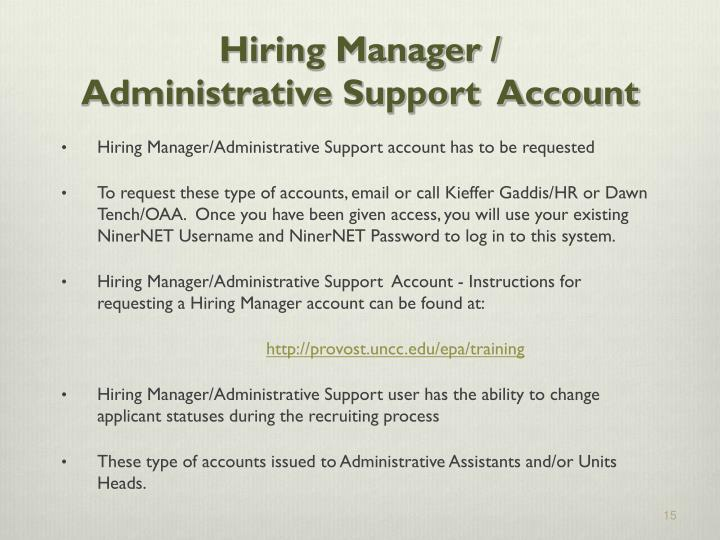 Hiring Manager /