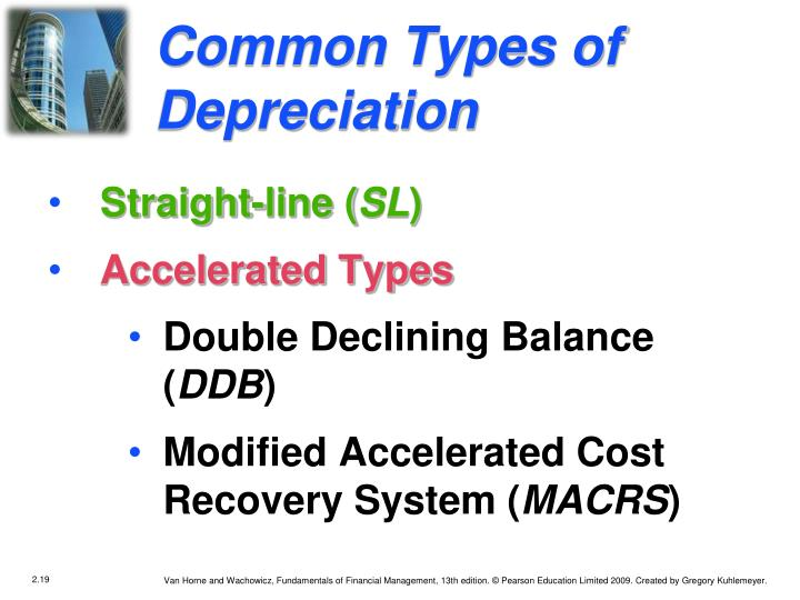 Common Types of Depreciation