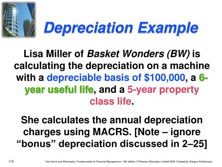 Depreciation Example
