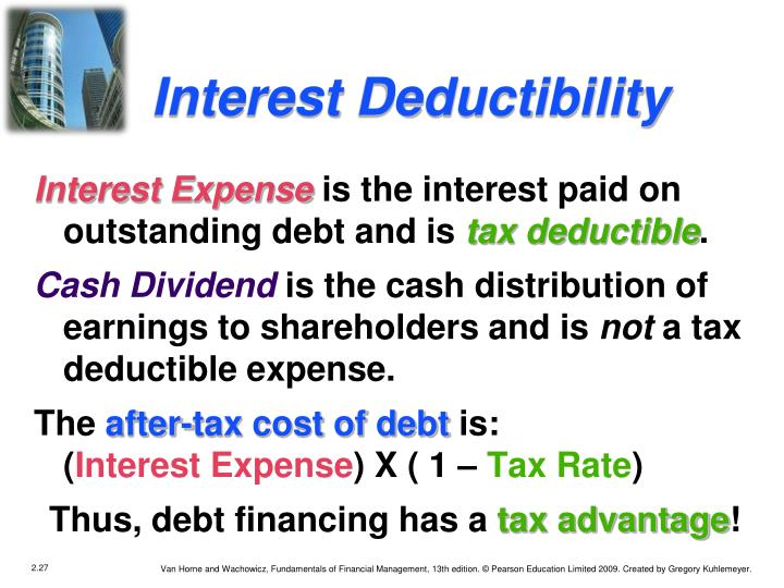 Interest Deductibility