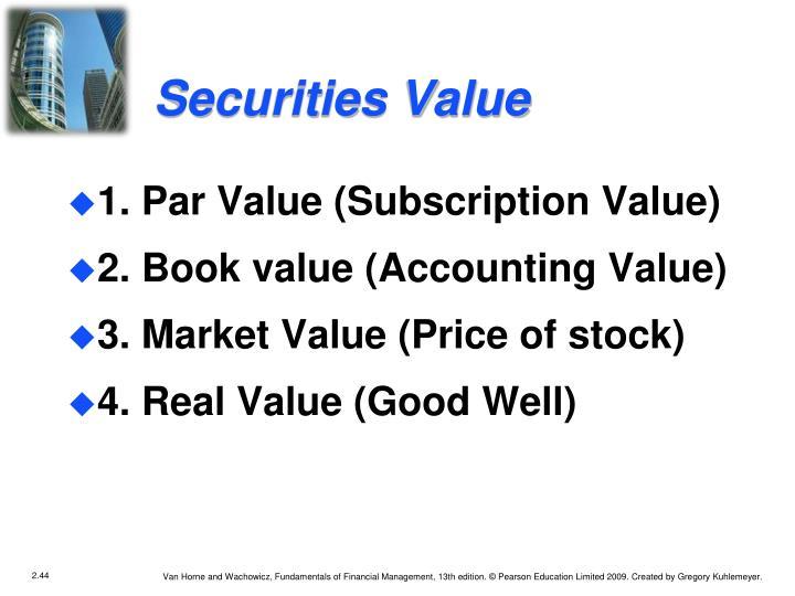 Securities Value