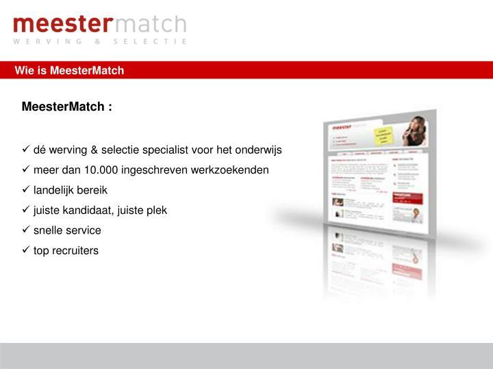 Wie is MeesterMatch