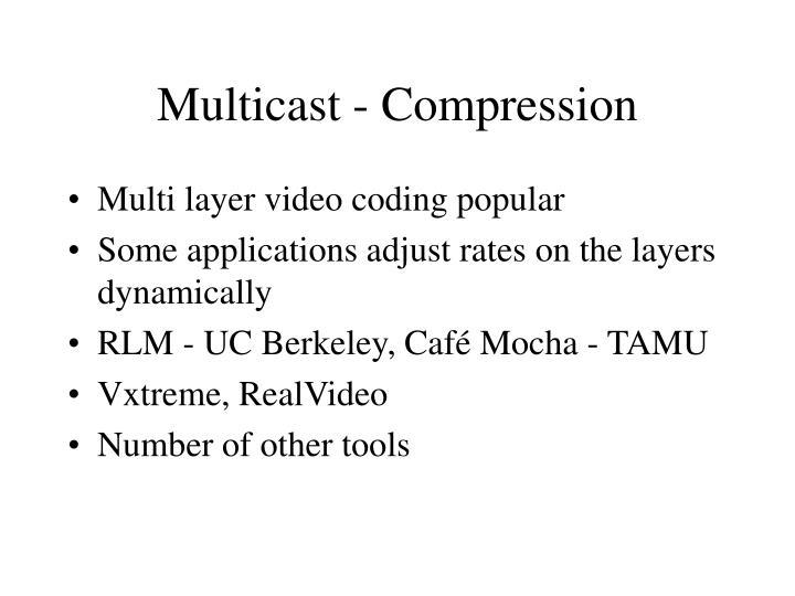 Multicast - Compression