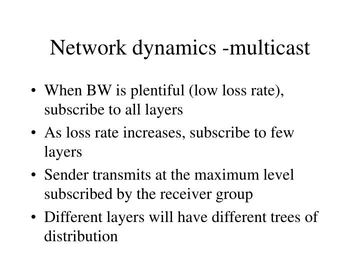 Network dynamics -multicast