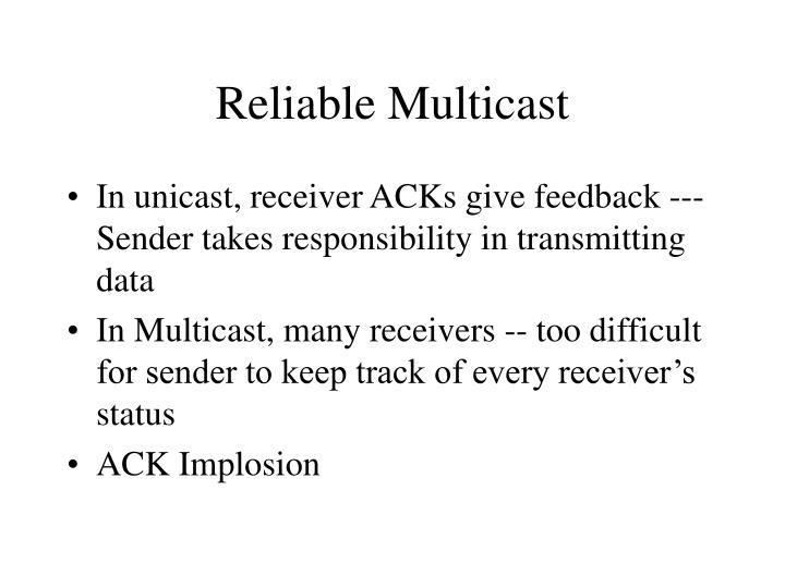 Reliable multicast