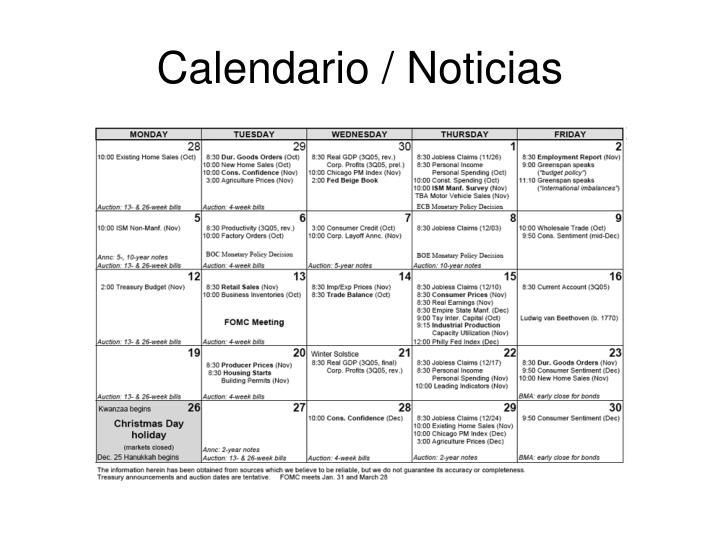 Calendario / Noticias