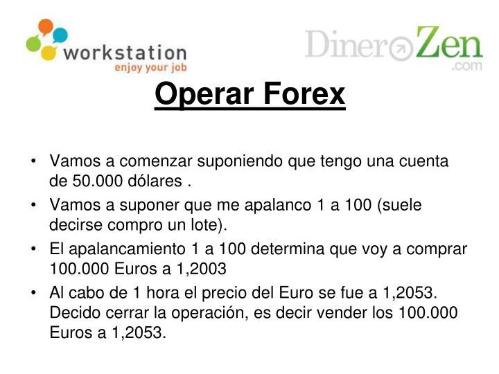 Operar Forex