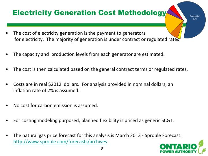 Electricity Generation Cost Methodology