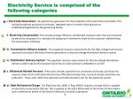 electricity service is comprised of the following categories
