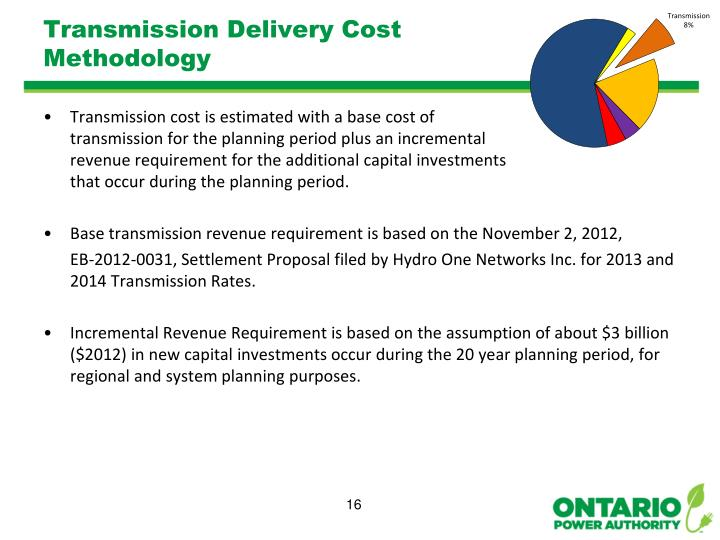 Transmission Delivery Cost