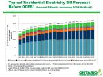 typical residential electricity bill forecast before oceb nominal month assuming 800kwh month