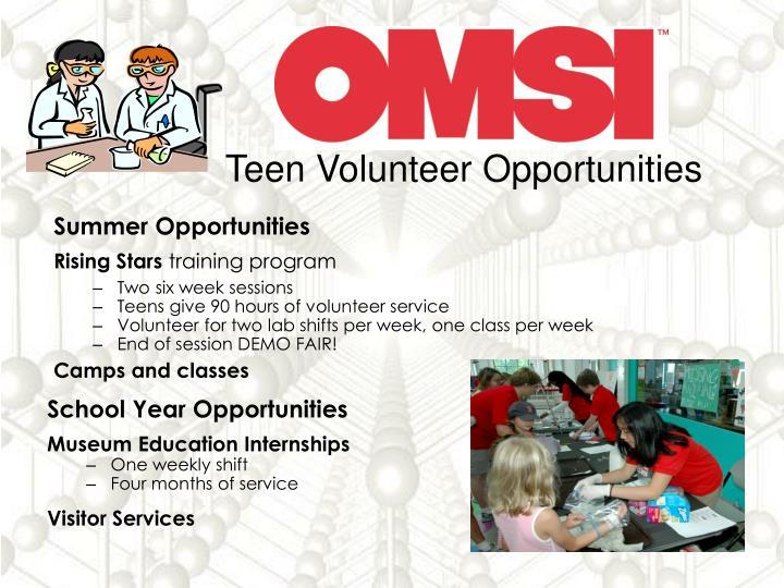 For teens opportunity volunteer