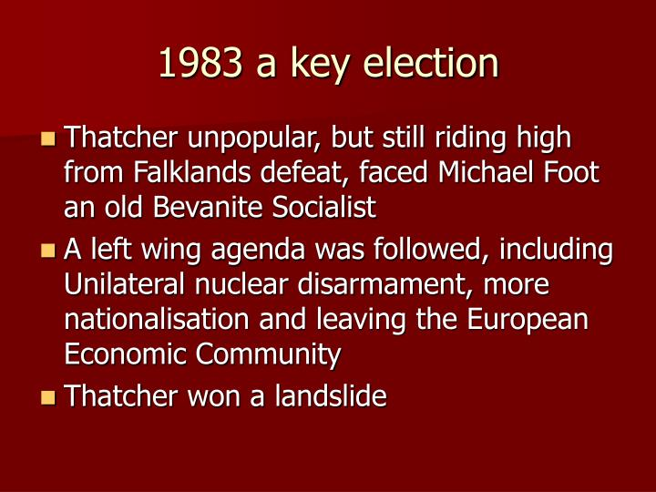 1983 a key election
