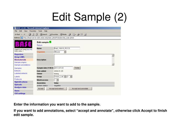 Edit Sample (2)