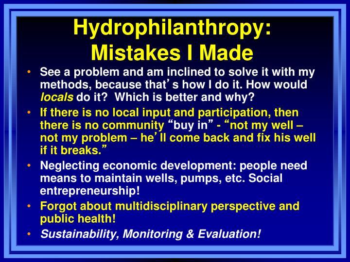Hydrophilanthropy