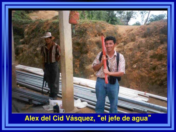 Alex del Cid Vásquez,