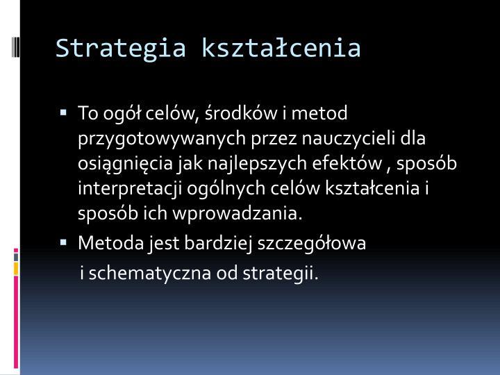 Strategia kształcenia