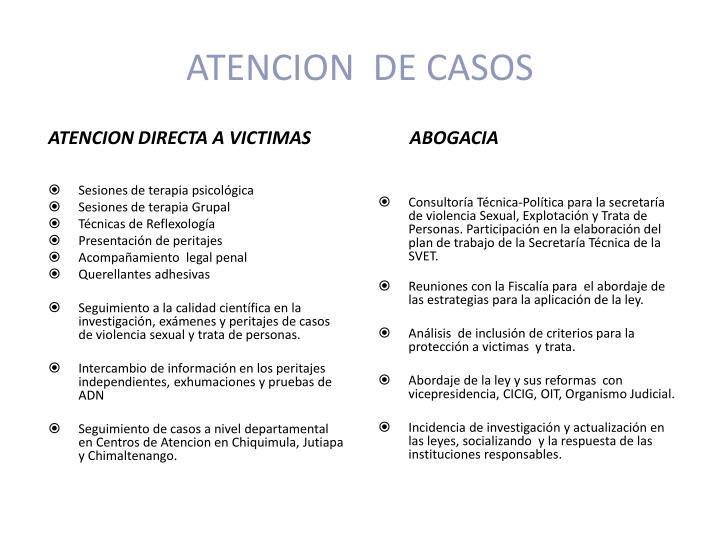 ATENCION  DE CASOS