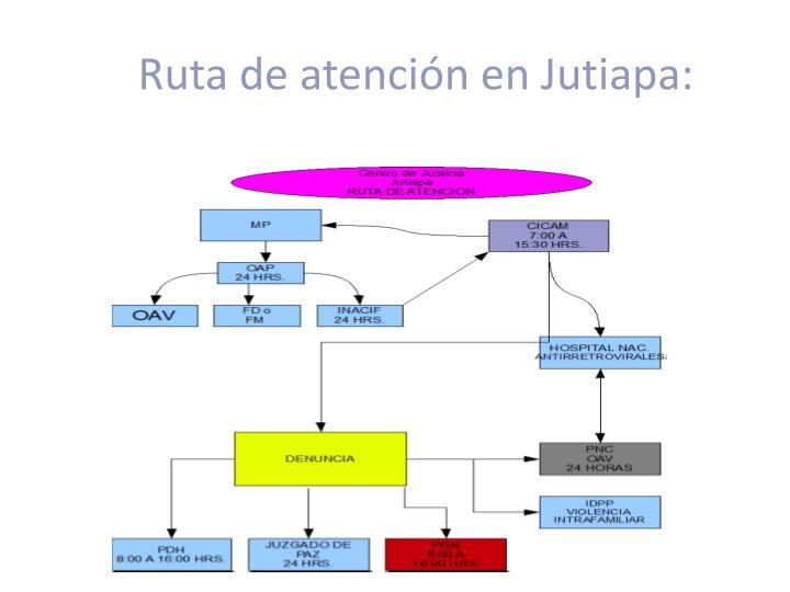 Ruta de atención en Jutiapa: