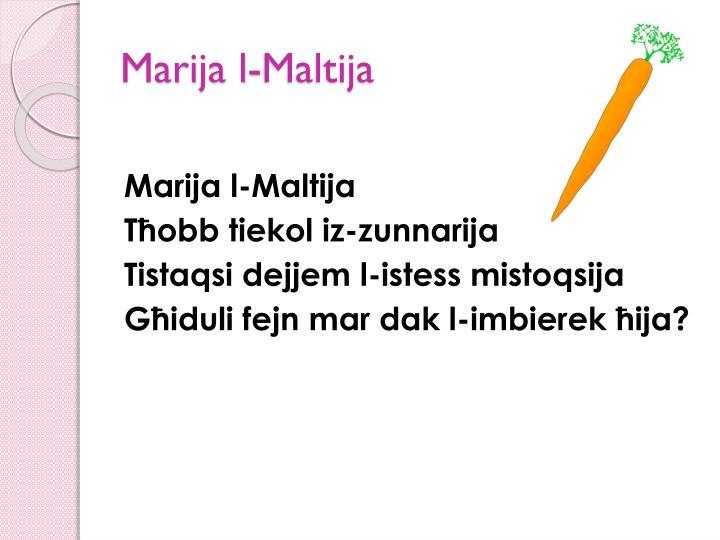 Marija l-Maltija