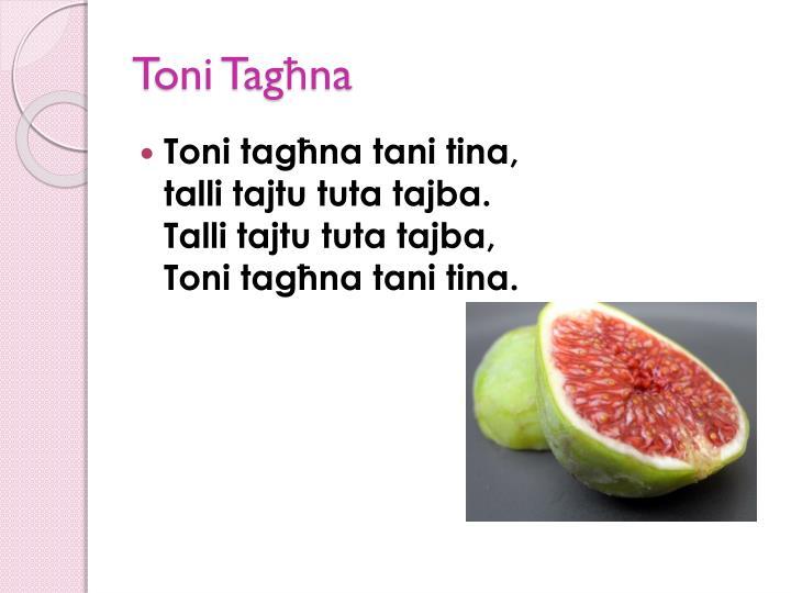 Toni Tagħna