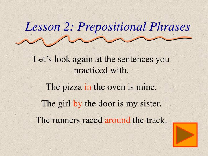 Lesson 2: Prepositional Phrases