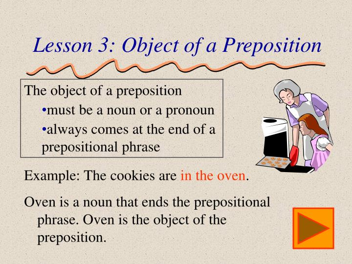 Lesson 3: Object of a Preposition