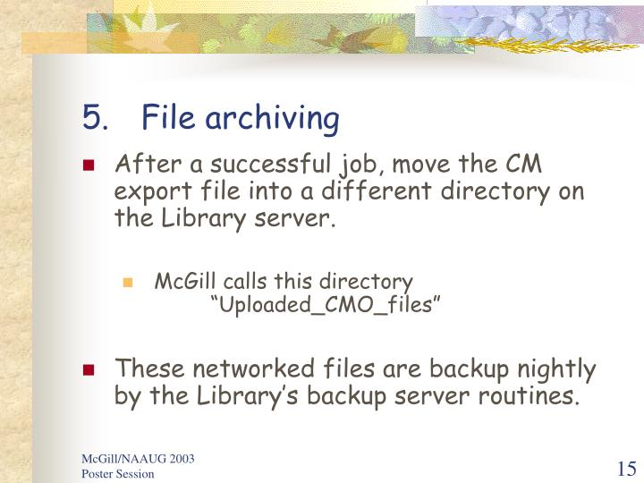 File archiving