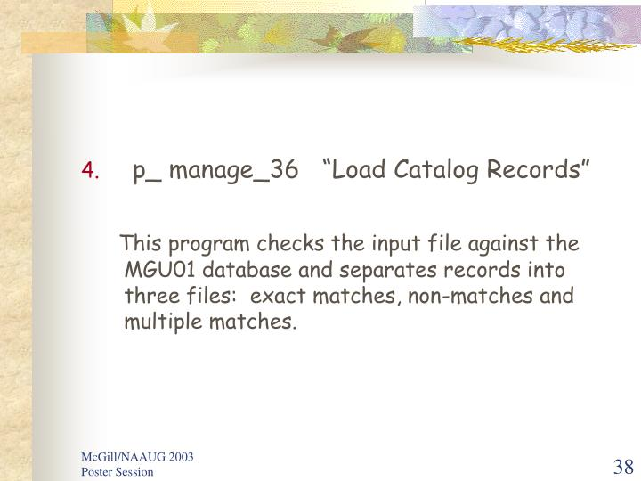 "p_ manage_36   ""Load Catalog Records"""