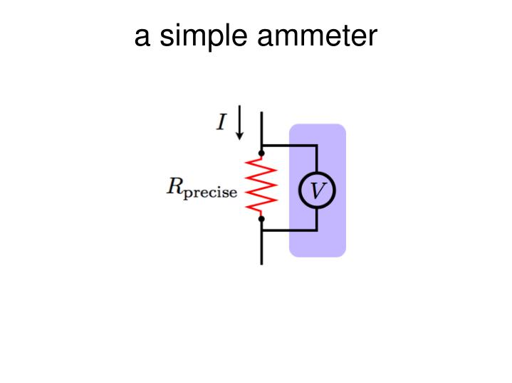 a simple ammeter