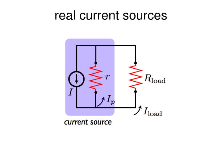 real current sources