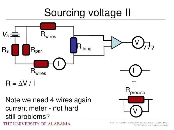 Sourcing voltage II