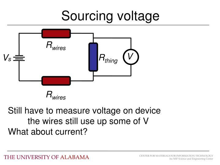 Sourcing voltage