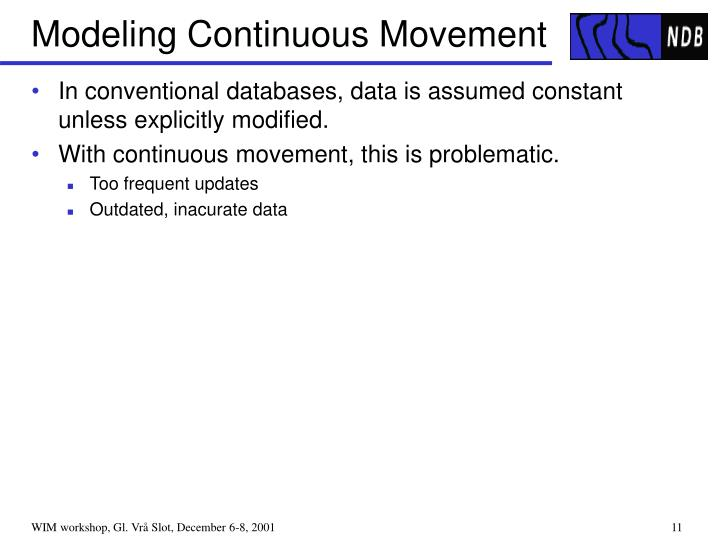 Modeling Continuous Movement