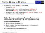 range query in r trees