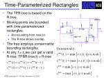 time parameterized rectangles