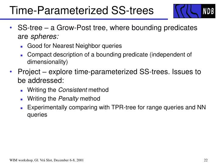 Time-Parameterized SS-trees