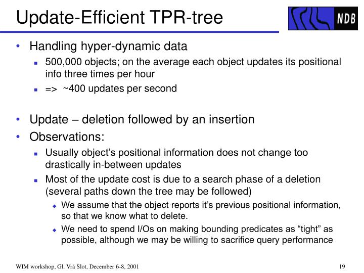 Update-Efficient TPR-tree