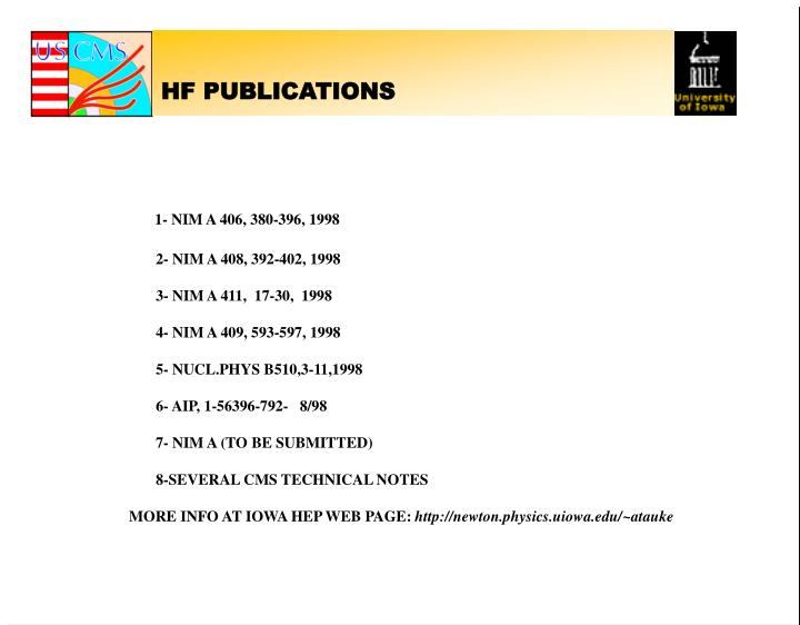 HF PUBLICATIONS