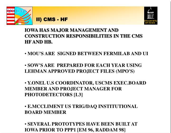 II) CMS - HF