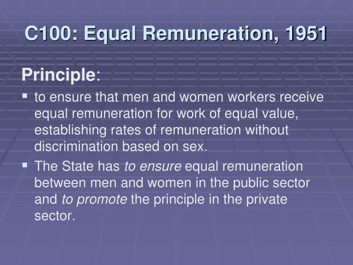 C100: Equal Remuneration, 1951