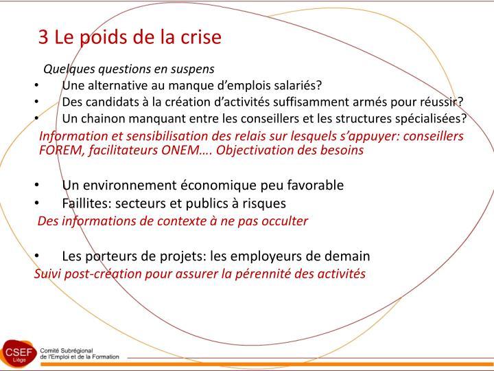 3 Le poids de la crise