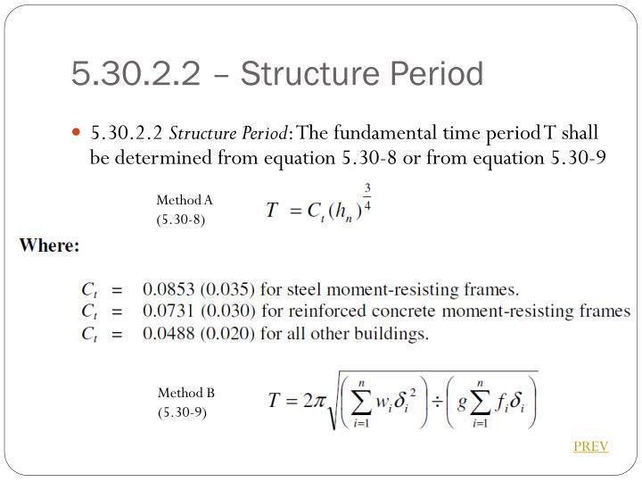 5.30.2.2 – Structure Period