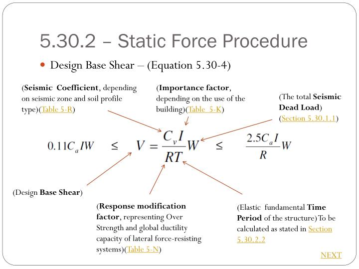 5.30.2 – Static Force Procedure